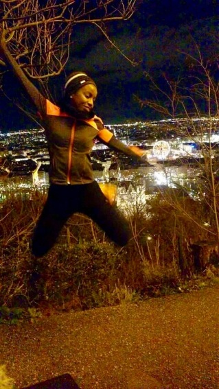 Jogging by night (Lyon)