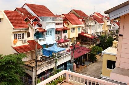 Nos premières nuits dans un quartier très calme situé dans la périphérie de Bangkok